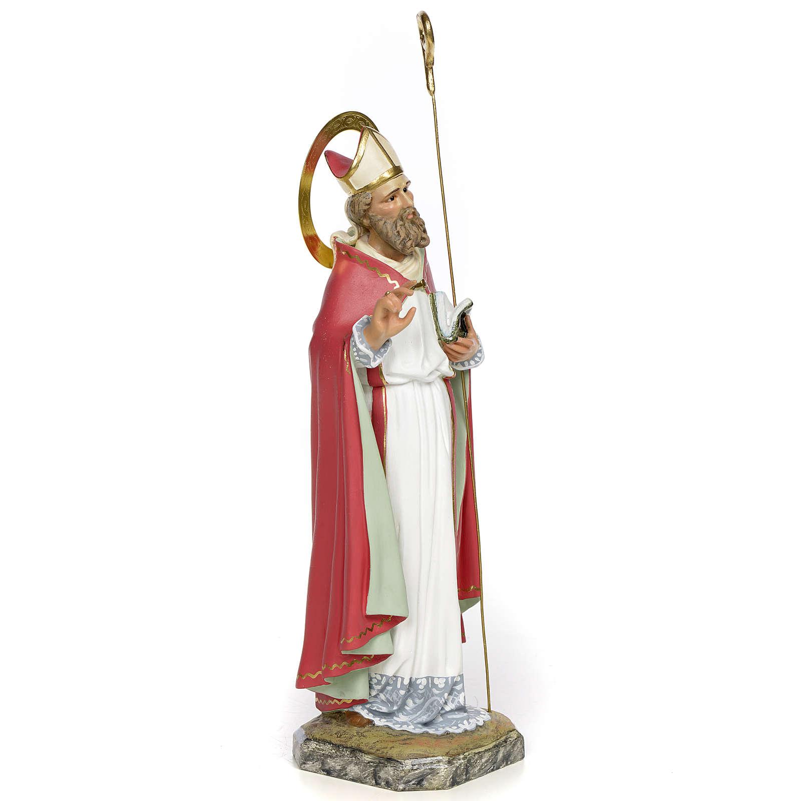 San Biagio Vescovo 30 cm pasta di legno dec. fine 4