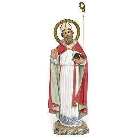 San Biagio Vescovo 30 cm pasta di legno dec. fine s1