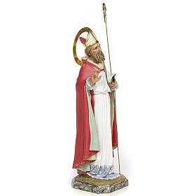 San Biagio Vescovo 30 cm pasta di legno dec. fine s2