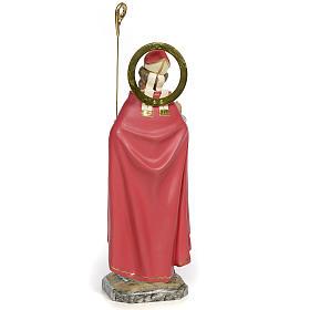 San Biagio Vescovo 30 cm pasta di legno dec. fine s3
