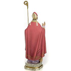 San Biagio Vescovo 20 cm pasta di legno dec. elegante s3