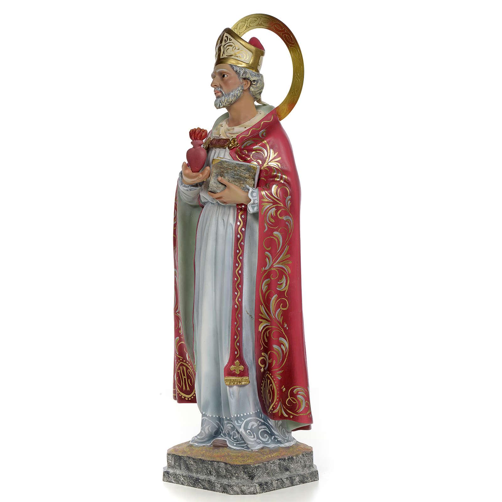 Sant'Agostino 60 cm pasta di legno dec. elegante 4