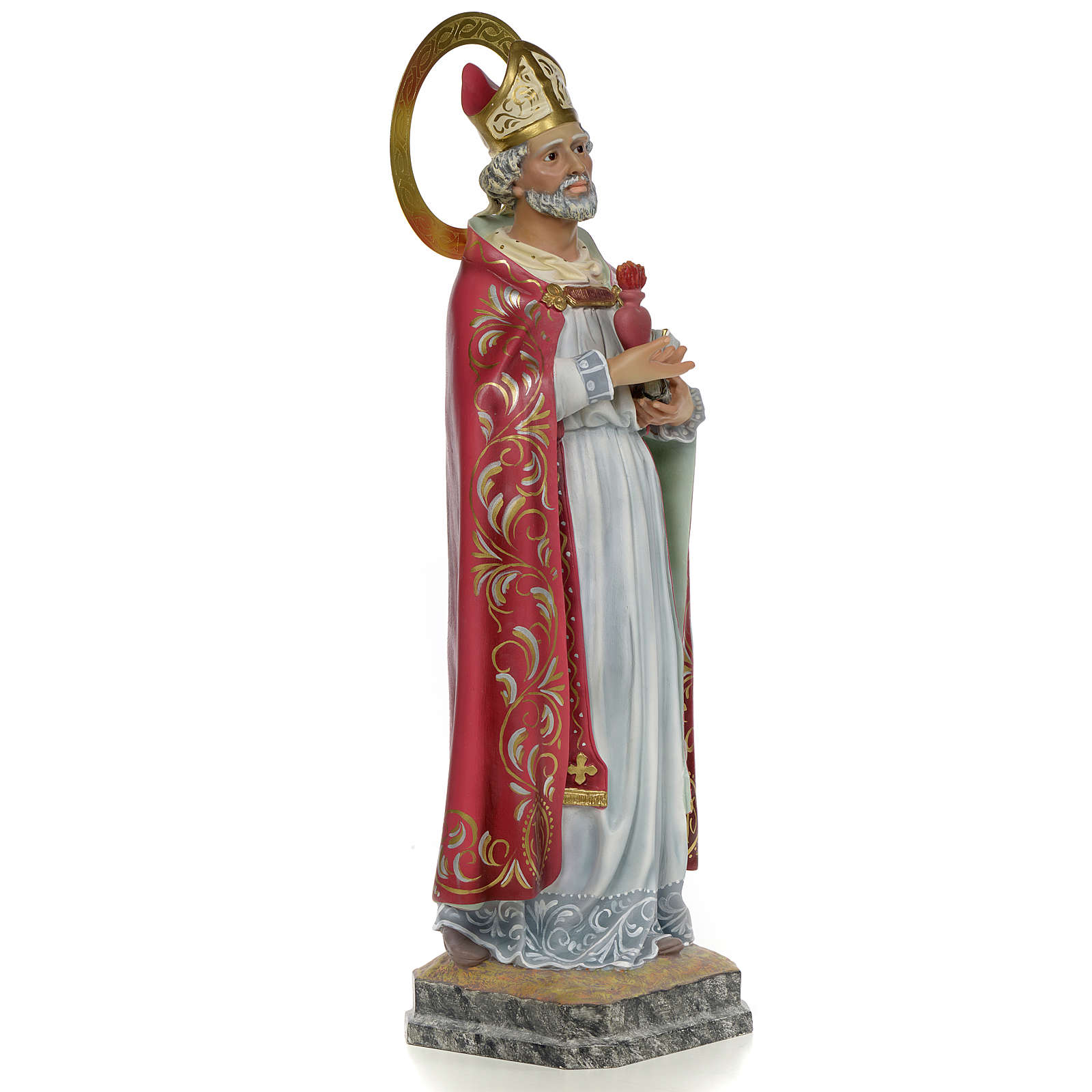 Saint Augustine 60cm wood paste, elegant decoration 4
