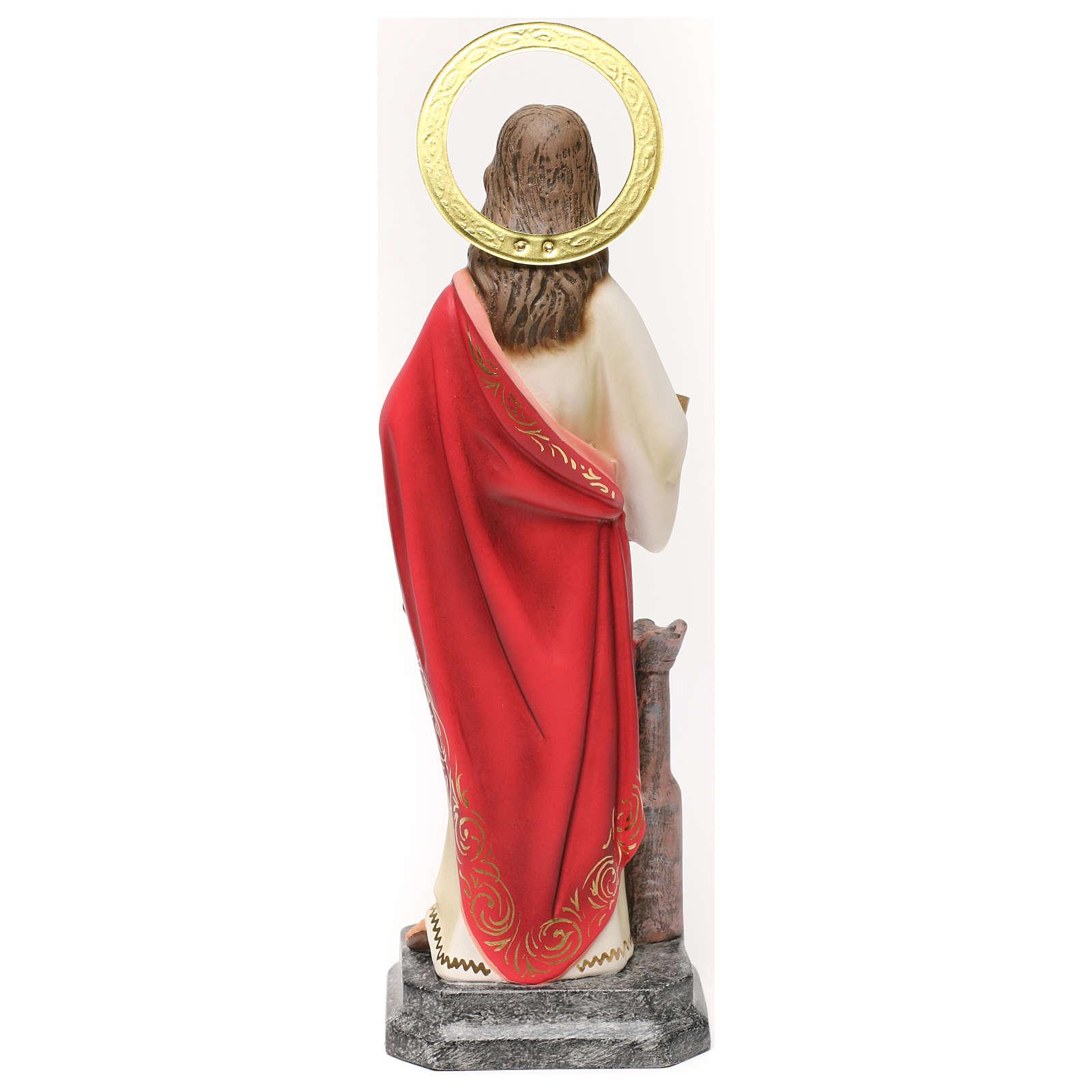 Saint Barbara 30cm wood paste, elegant decoration 4