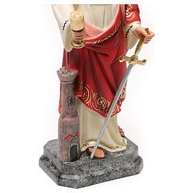 Saint Barbara 30cm wood paste, elegant decoration s5