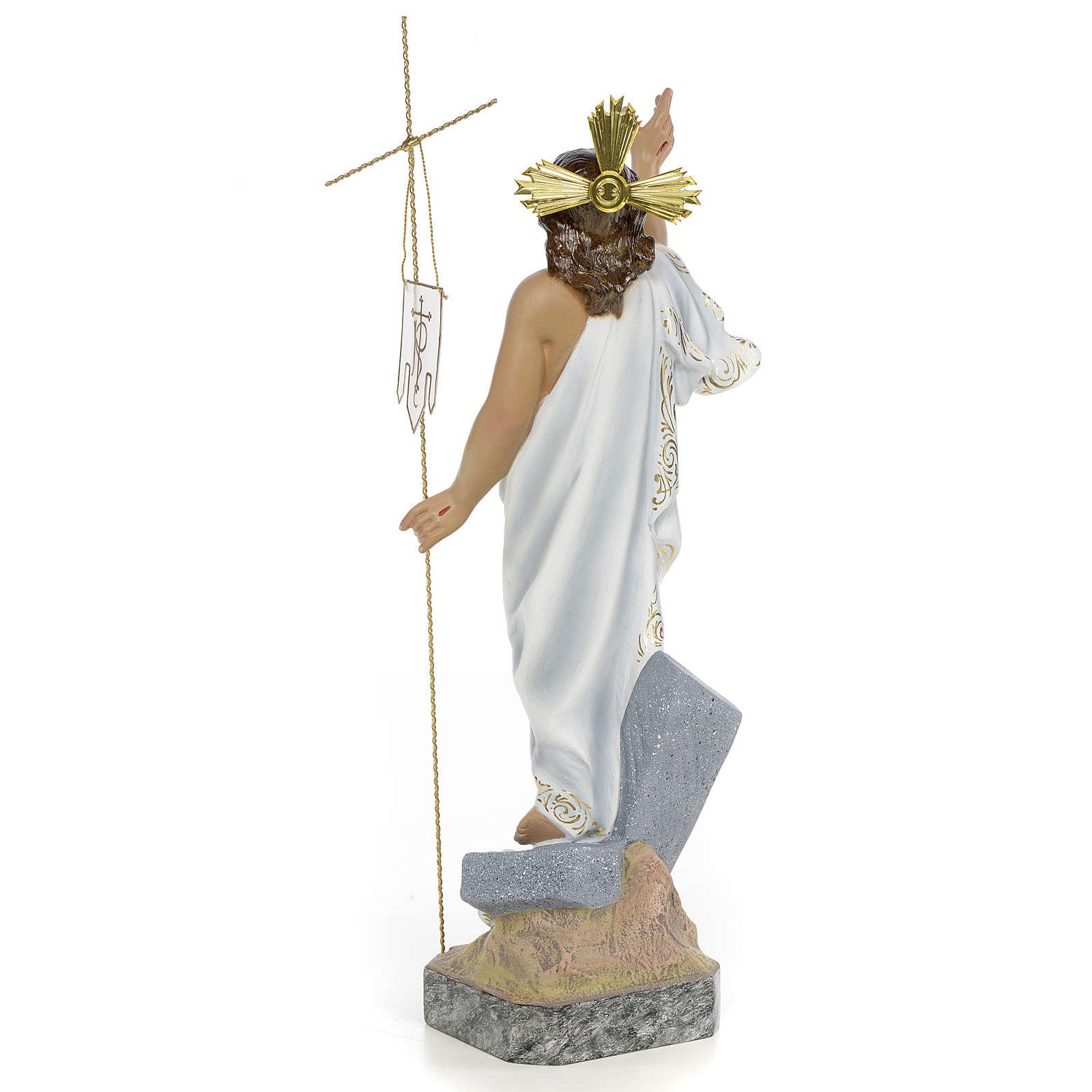 Christ Ressuscité 40 cm fin. supérieure pâte à bois 4