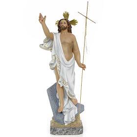 Christ Ressuscité 40 cm fin. supérieure pâte à bois s1