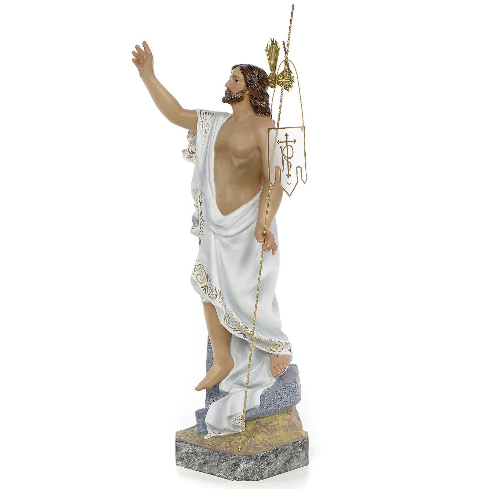 Gesù Risorto 40 cm pasta di legno dec. superiore 4