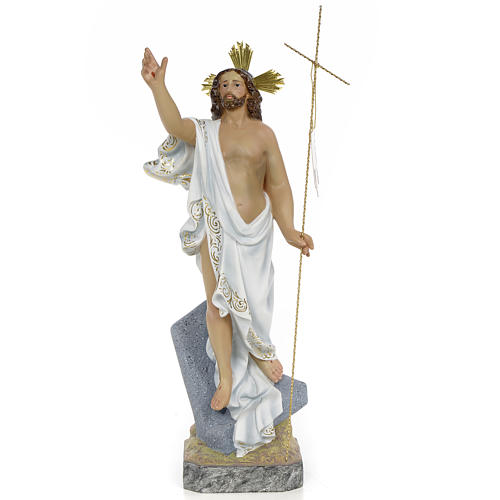 Gesù Risorto 40 cm pasta di legno dec. superiore 1