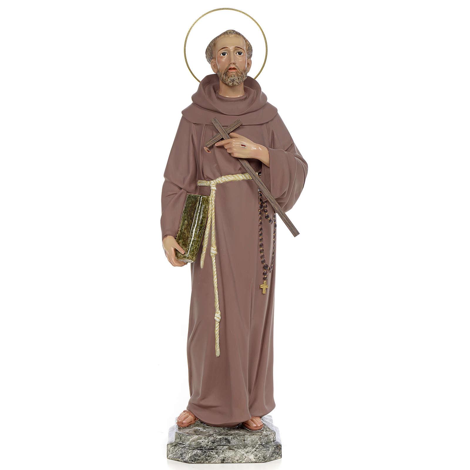 Saint Francis of Assisi 50cm, wood paste, fine decoration 4
