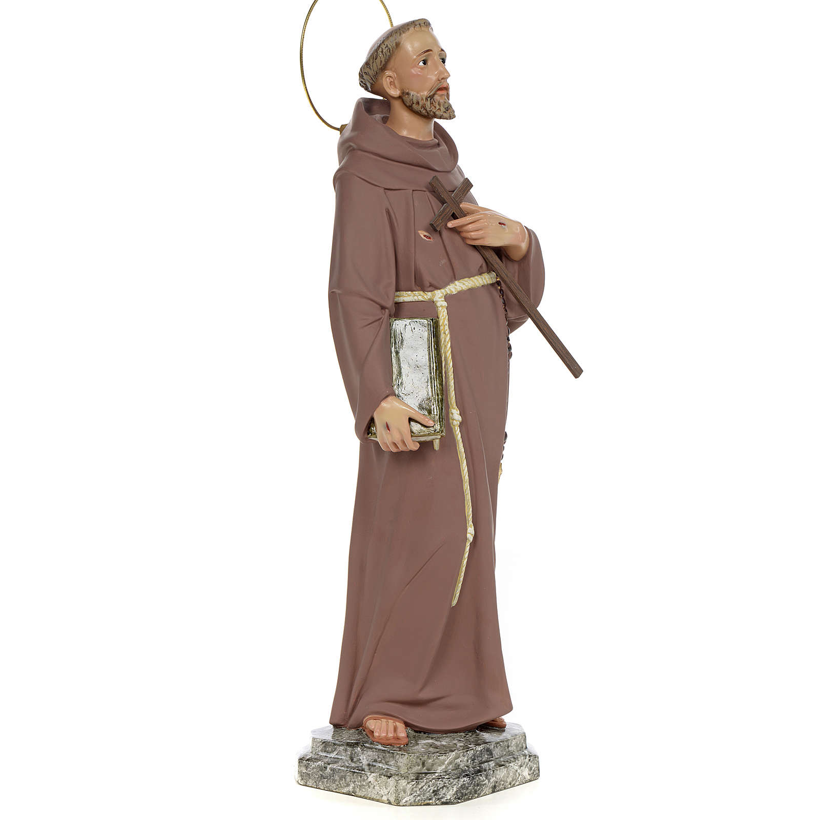 Saint François d'Assise 50 cm fin. simple pâte à bois 4