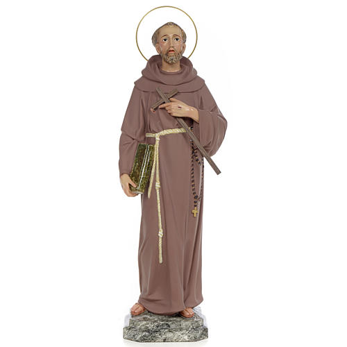 Saint François d'Assise 50 cm fin. simple pâte à bois 1
