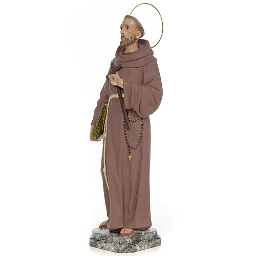 Saint François d'Assise 50 cm fin. simple pâte à bois 2
