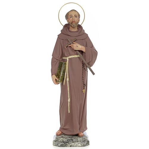 Saint Francis of Assisi 50cm, wood paste, fine decoration 1