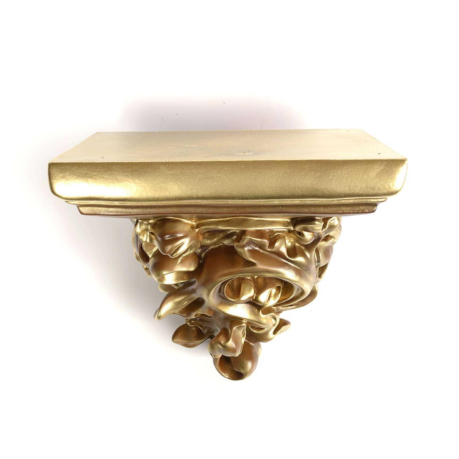 Mensola in pasta di legno per statue h 17 cm fin. bronzata 4