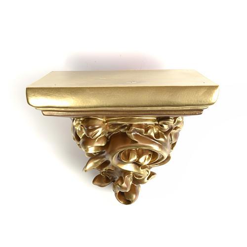 Mensola in pasta di legno per statue h 17 cm fin. bronzata 2