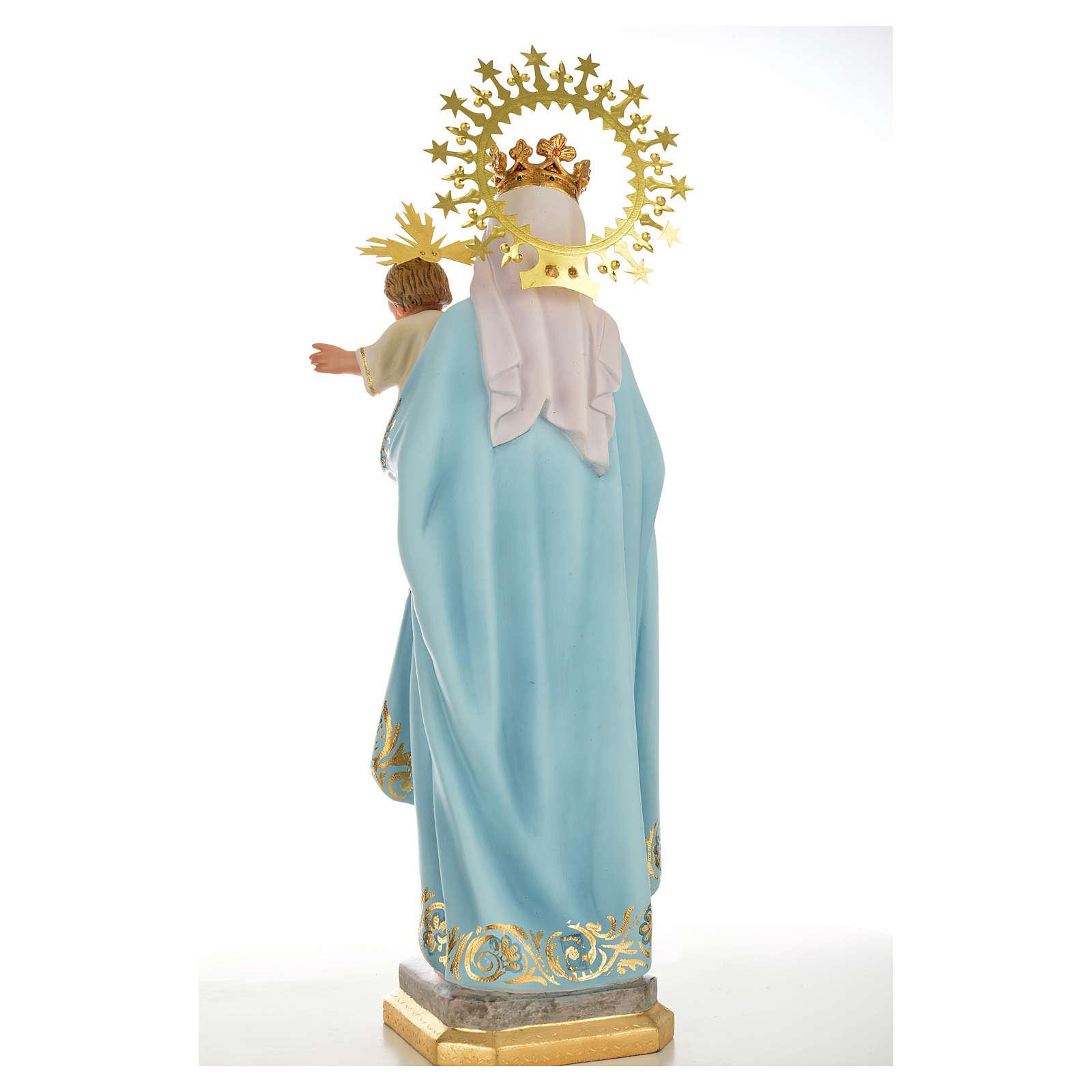 Vergine del rosario 50 cm pasta di legno dec. superiore 4