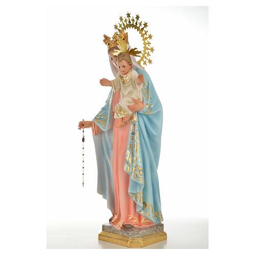 Vergine del rosario 50 cm pasta di legno dec. superiore 2