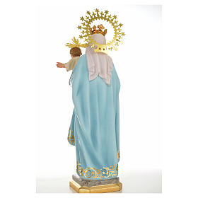 Our Lady of the Rosary 50cm in wood paste, superior decoration s3
