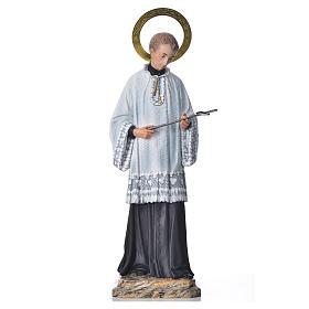 Imágenes de Madera Pintada: San Luis Gonzaga, 50cm acabado elegante