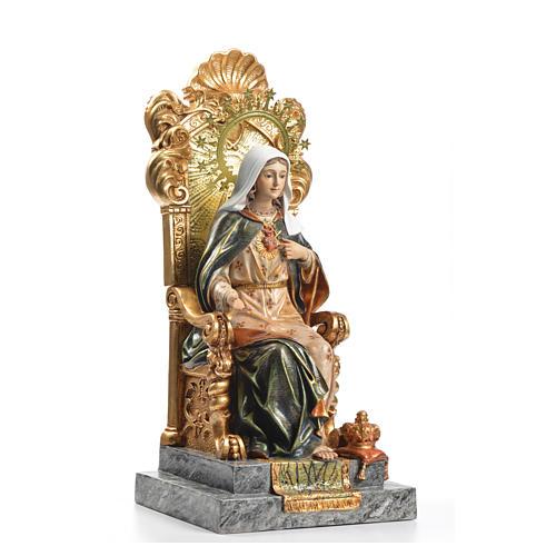 Sacré Coeur de Marie throne 40 cm pâte à bois fin. supérieure 4