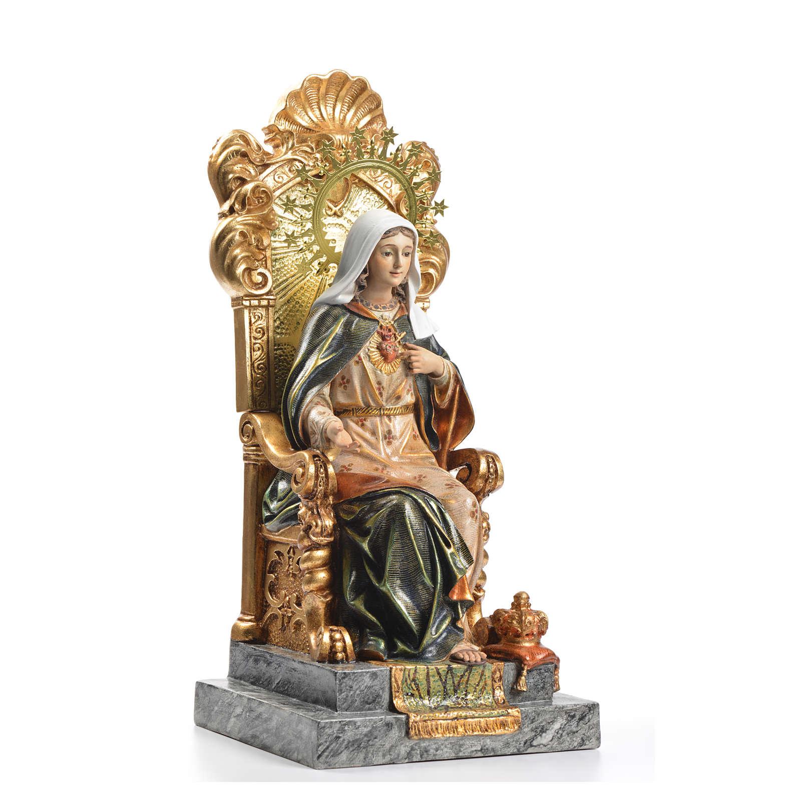 Sacro Cuore di Maria trono 40 cm pasta legno dec. superiore 4