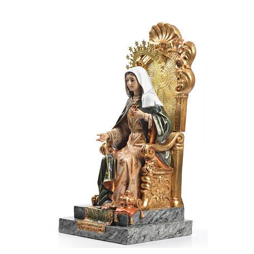 Sacro Cuore di Maria trono 40 cm pasta legno dec. superiore 2
