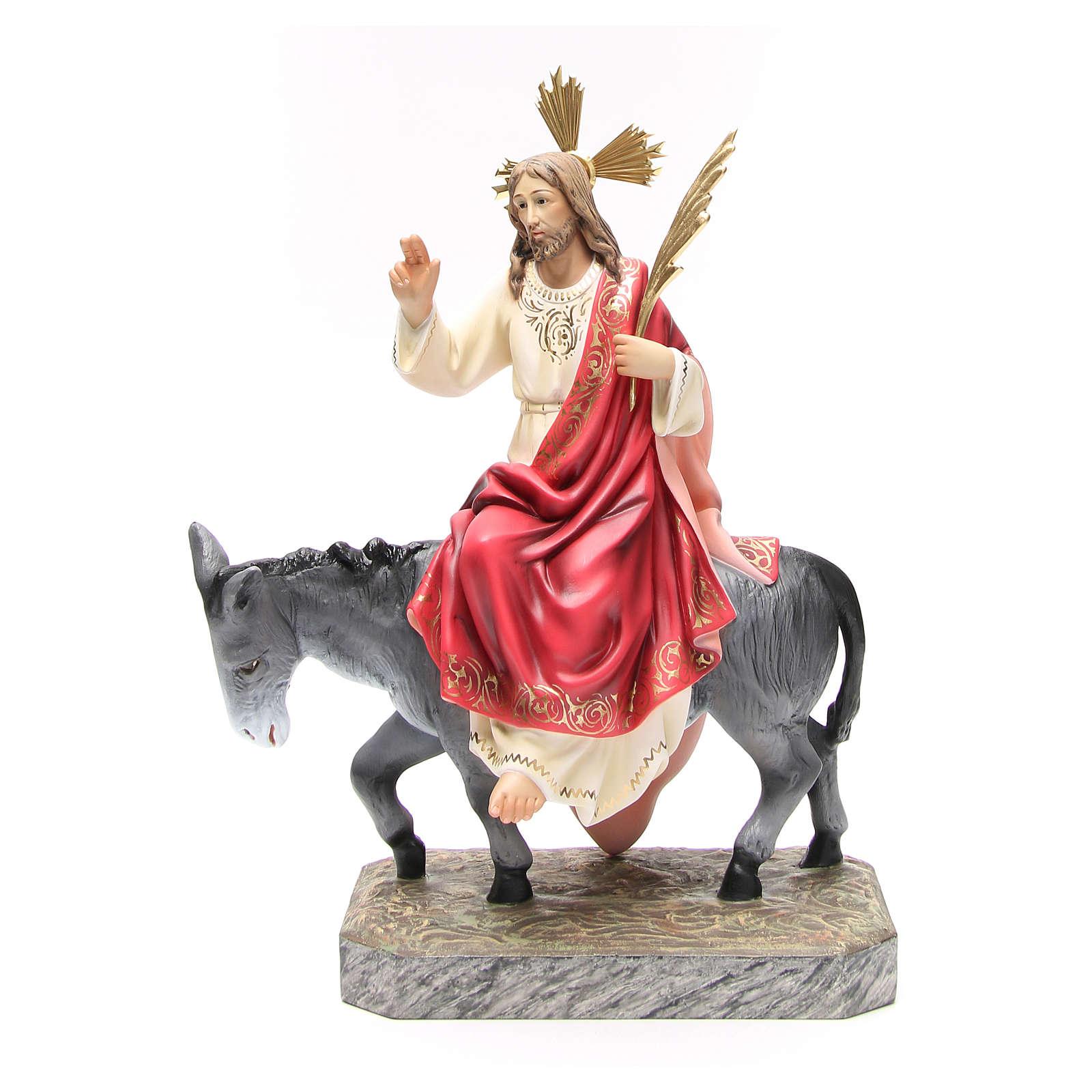 Entrata a Gerusalemme 40 cm pasta di legno dec. elegante 4