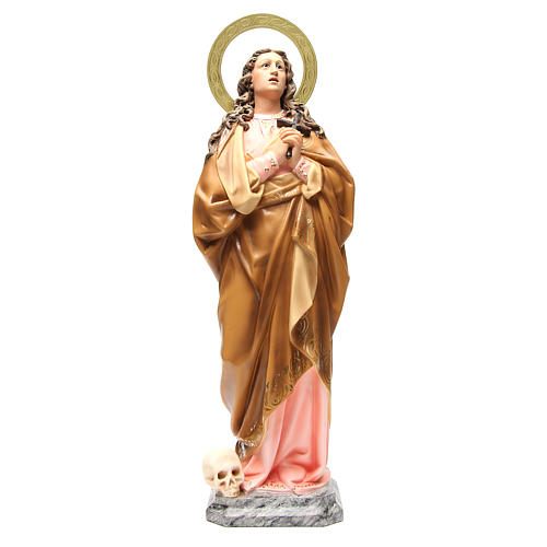 Maria Maddalena 60 cm pasta di legno dec. elegante 1