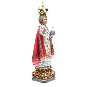 Infant Jesus of Prague 50 cm with elegant decorations in wood paste s4