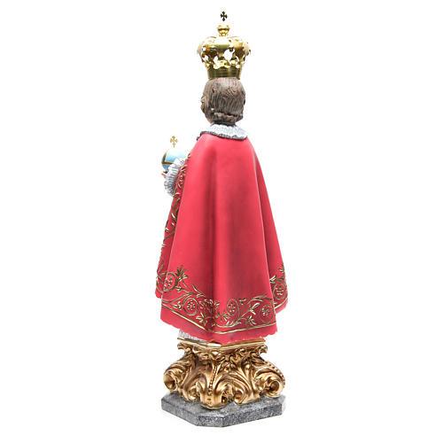 Infant Jesus of Prague 50 cm with elegant decorations in wood paste 3