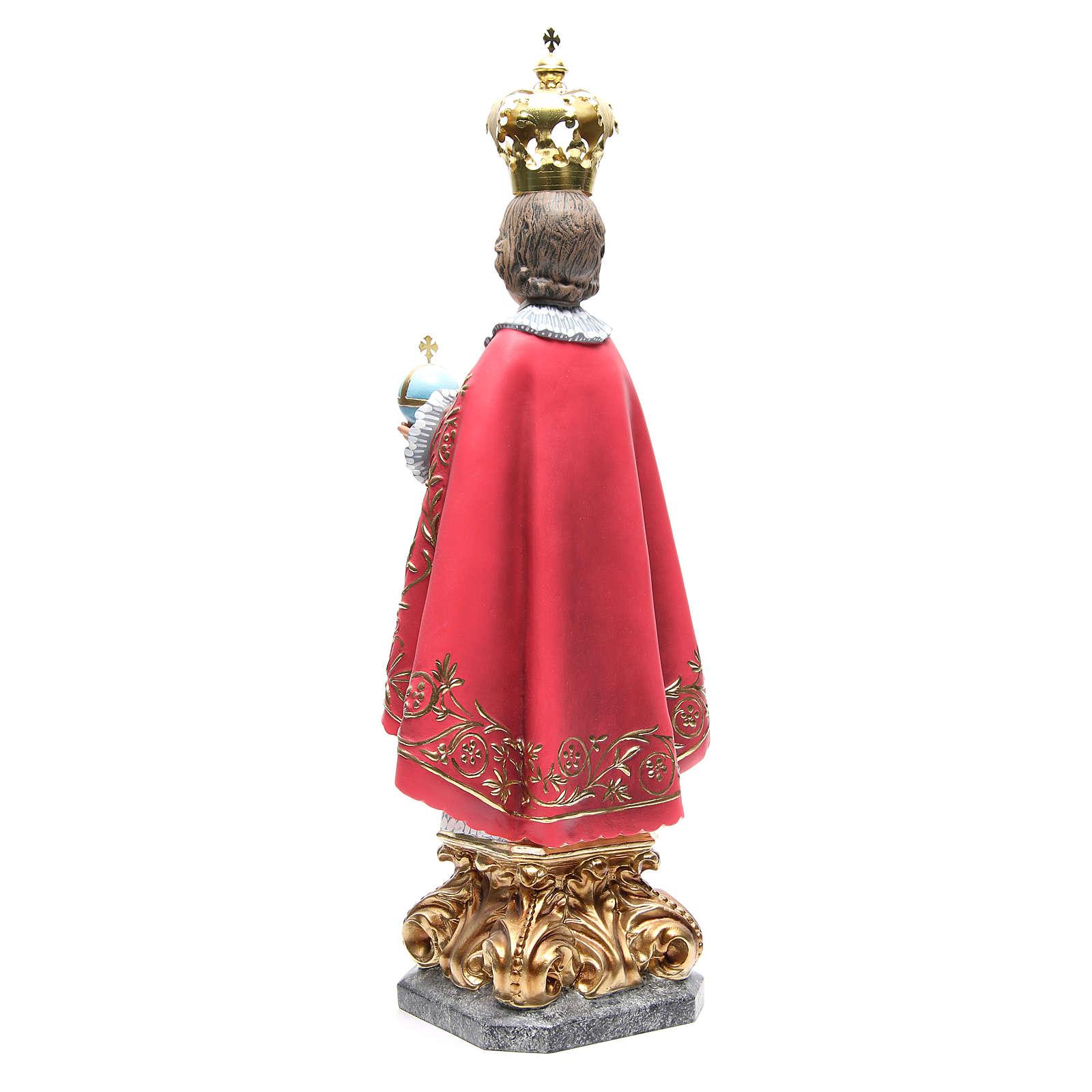 Niño Jesús de Praga 50 cm de pasta de madera, acabado elegante 4
