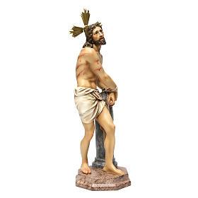 Gesù alla colonna 60 cm pasta di legno dec. anticata s4