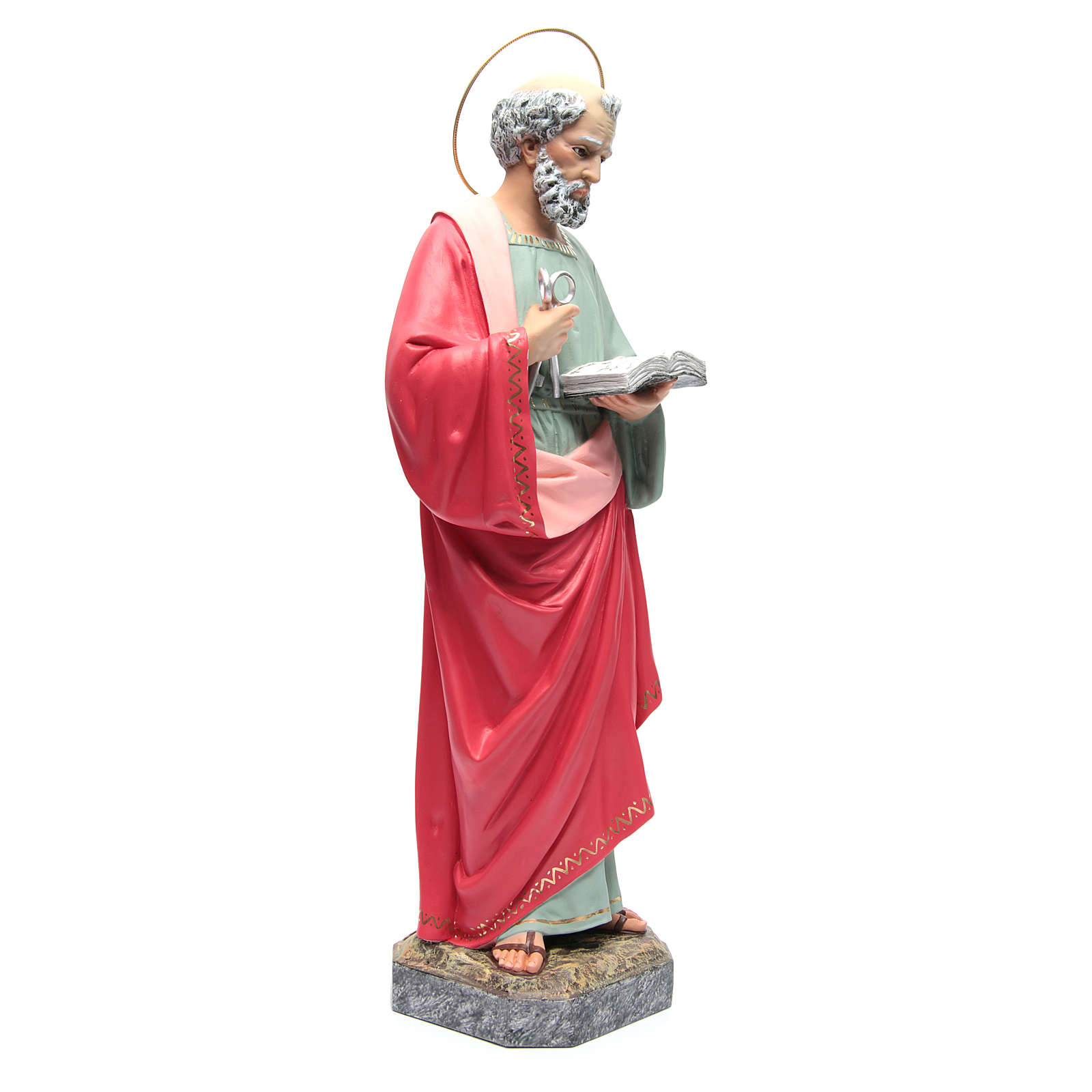 San Pedro Apóstol 60 cm de pasta de madera, acabado refinado 4