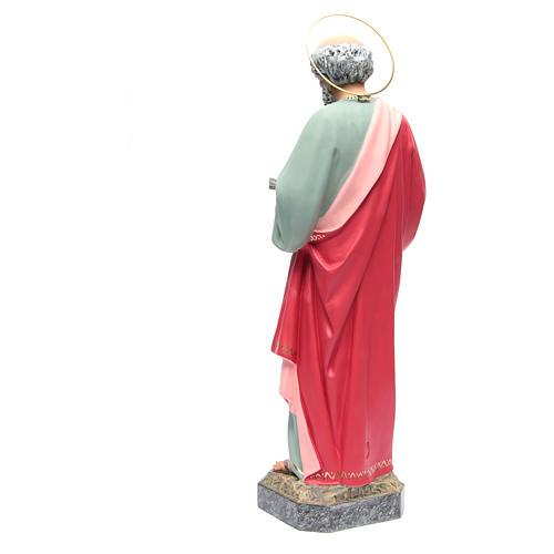 San Pedro Apóstol 60 cm de pasta de madera, acabado refinado 3