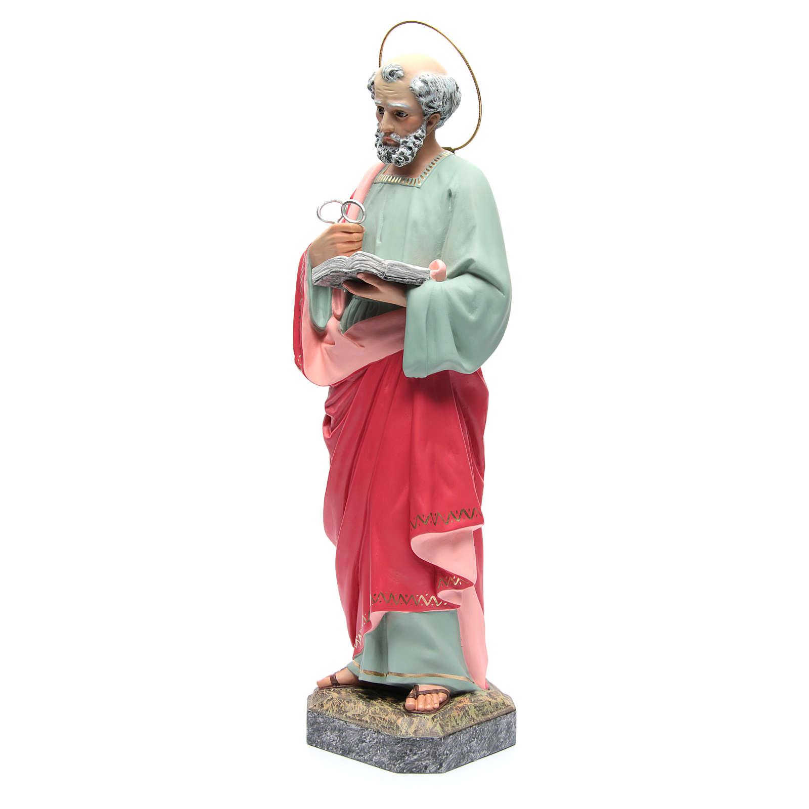 San Pietro Apostolo 60 cm pasta di legno dec. fine 4