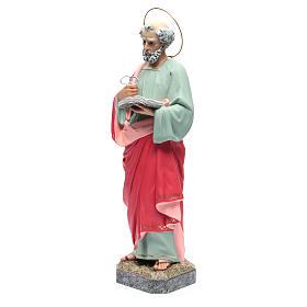 San Pietro Apostolo 60 cm pasta di legno dec. fine s2