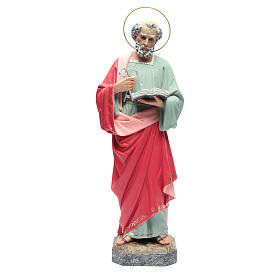 Hand painted wooden statues: Saint Peter Statue in wood paste, 60 cm fine finish