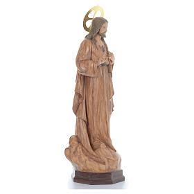 Sagrado Corazón de Jesús 80 cm pasta de madera acabado bruñido s3