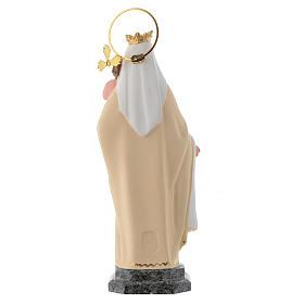 Vergine del Carmelo 20 cm pasta di legno dec. fine s4