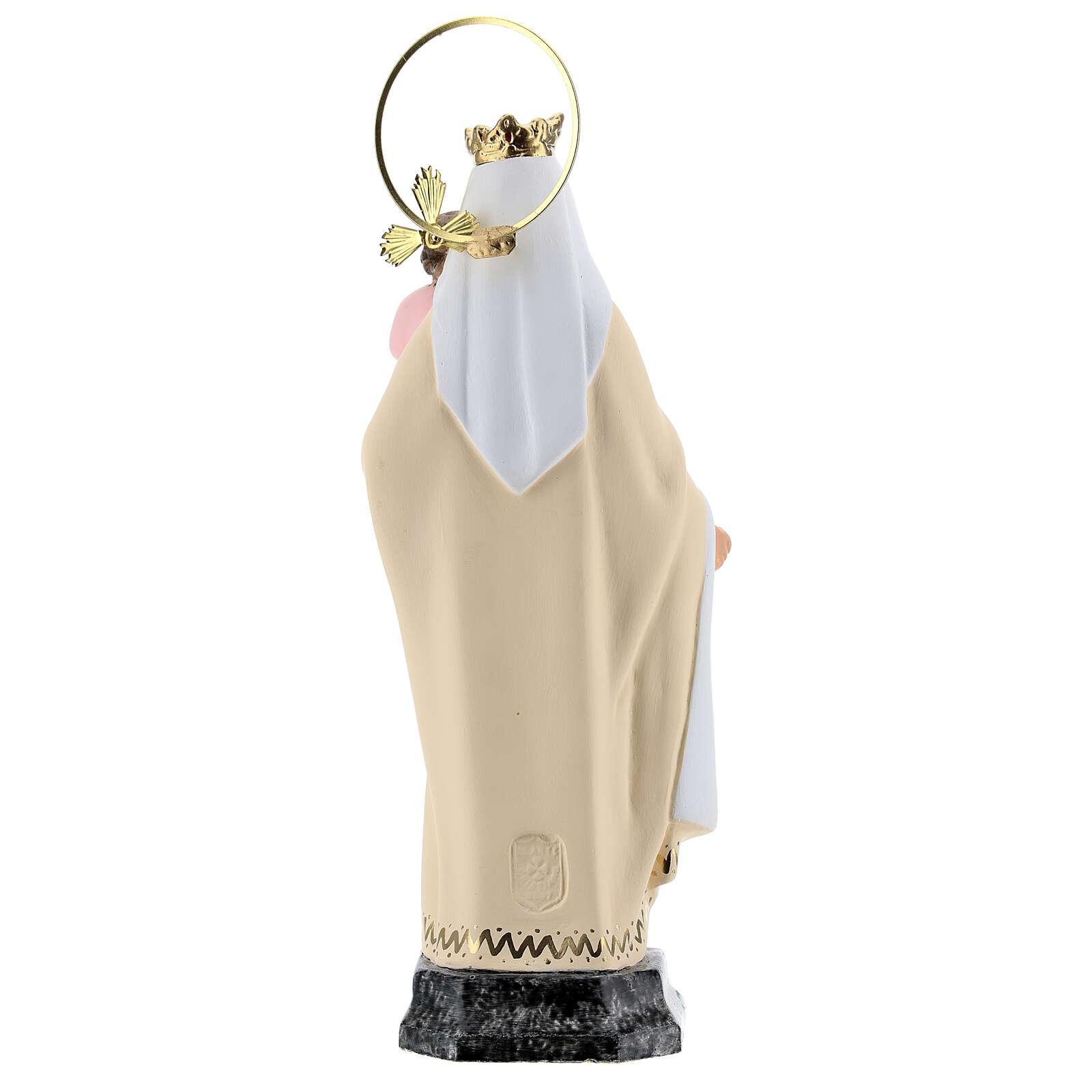 Our Lady of Mount Carmel 20 cm wood paste refined decoration 4