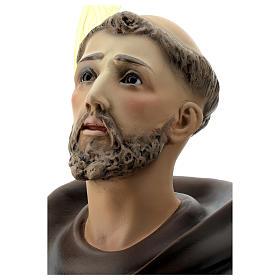 Estatua San Francisco de Asís 80 cm pulpa de madera dec. elegante s2