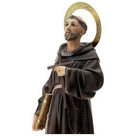 Estatua San Francisco de Asís 80 cm pulpa de madera dec. elegante s7