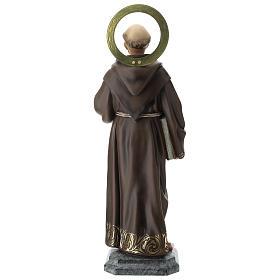 Estatua San Francisco de Asís 80 cm pulpa de madera dec. elegante s11