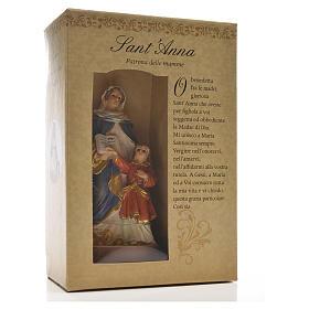Sant'Anna 12 cm con immaginetta PREGHIERA ITALIANO s3