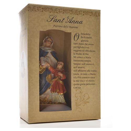 Sant'Anna 12 cm con immaginetta PREGHIERA ITALIANO 3