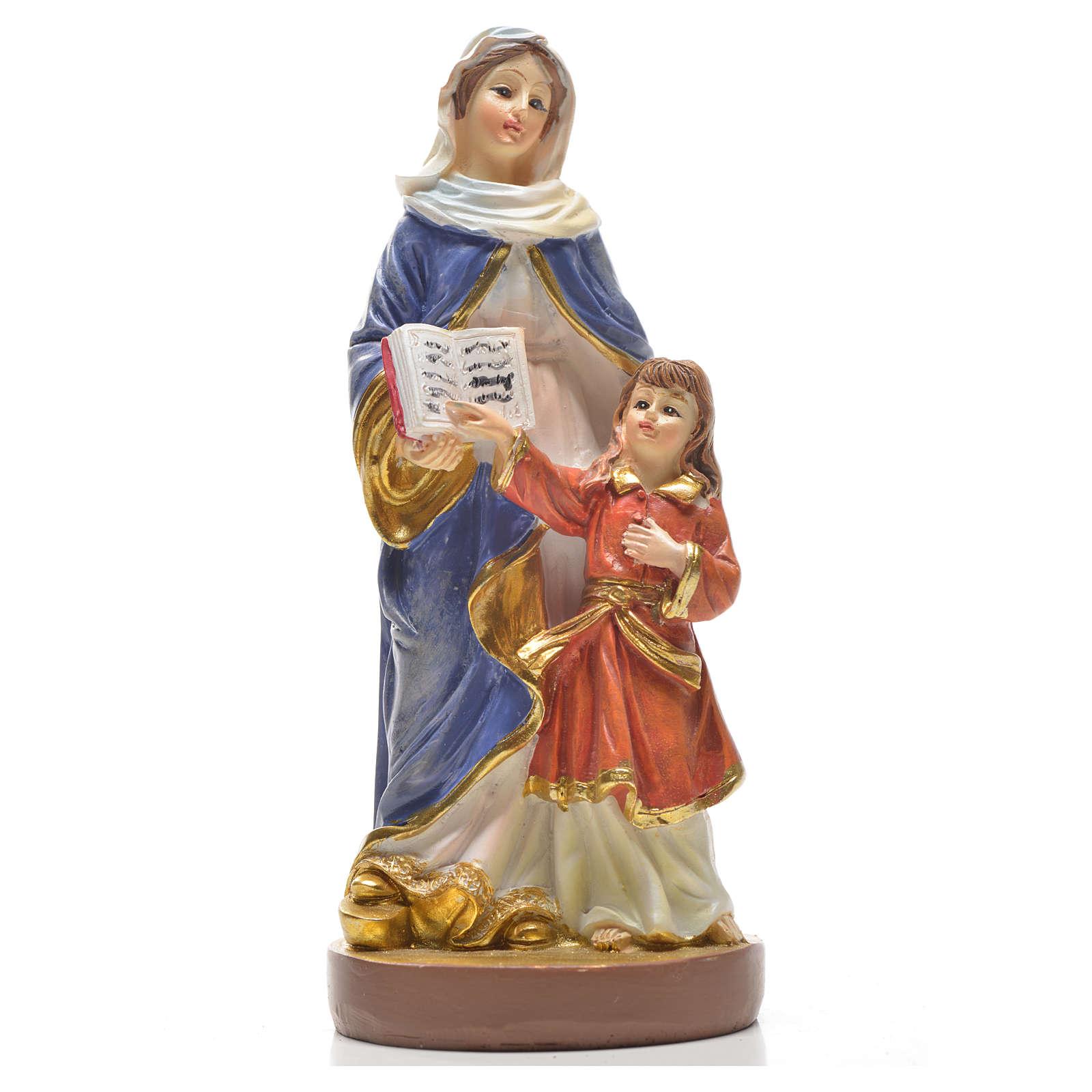 Sant'Anna 12 cm con immaginetta PREGHIERA INGLESE 4