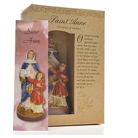 Sant'Anna 12 cm con immaginetta PREGHIERA INGLESE s3