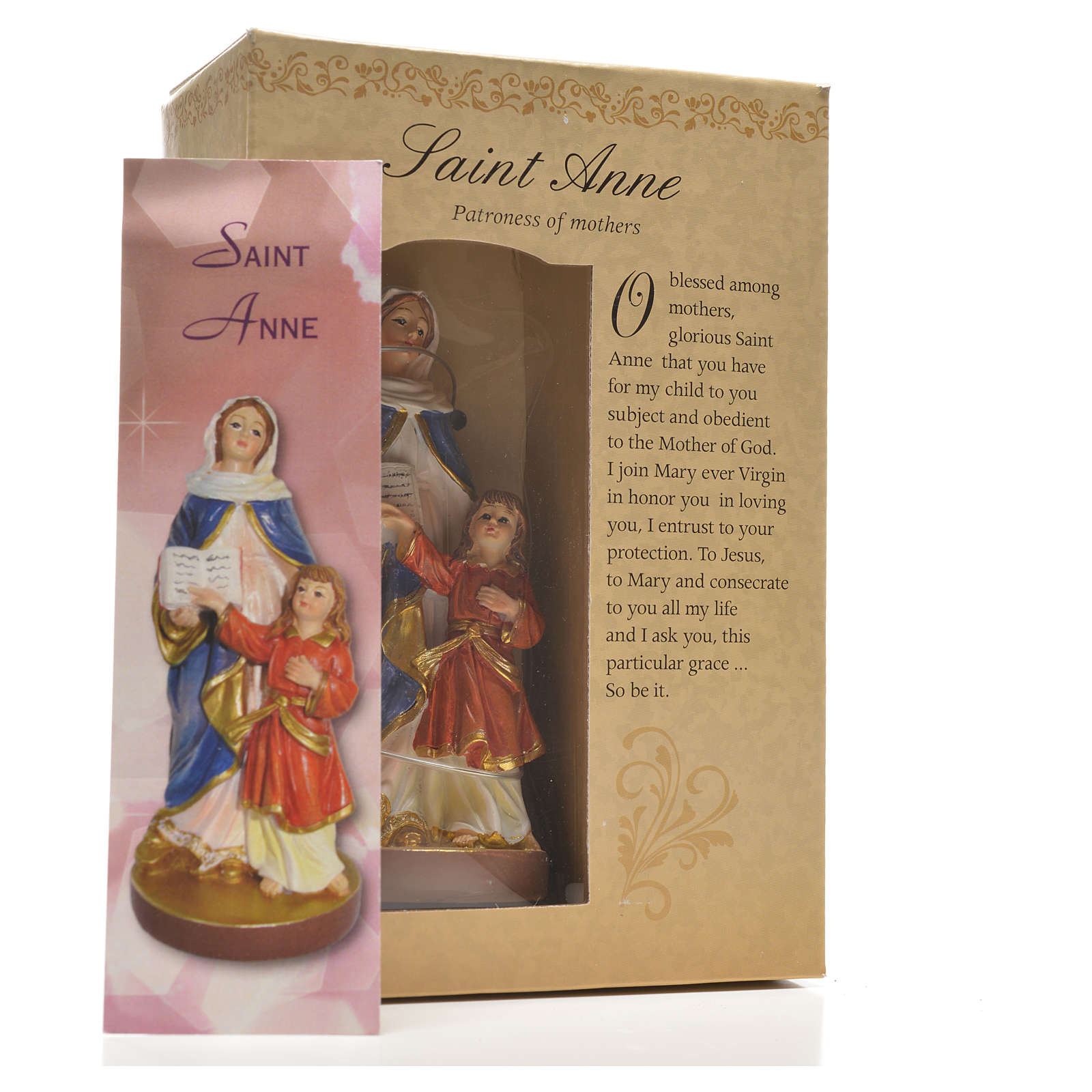 Saint Anne 12cm with image and ENGLISH PRAYER 4