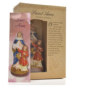 Saint Anne 12cm with image and ENGLISH PRAYER s3